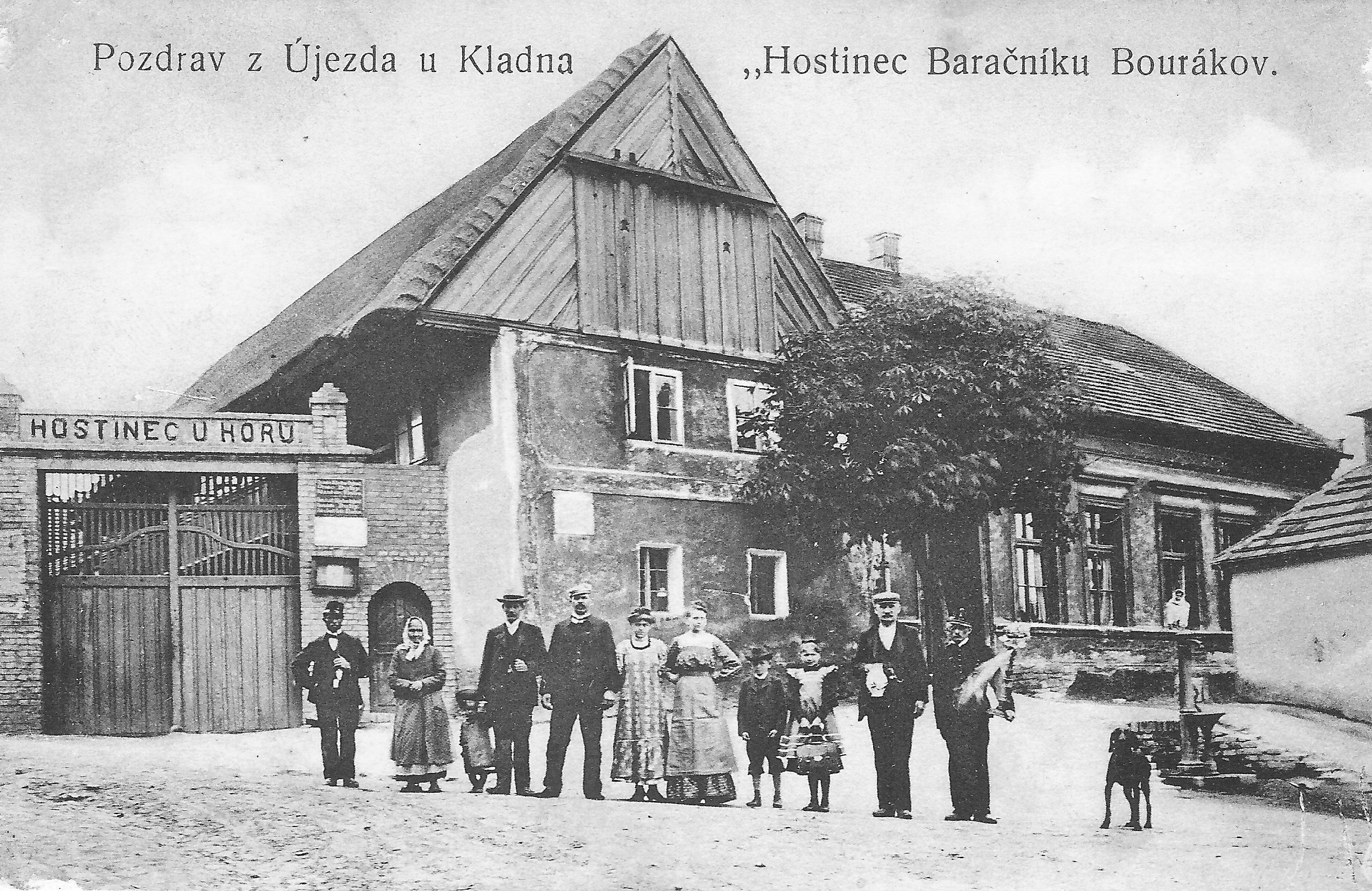 Hostinec U Horů v Újezdu pod Kladnem, rok 1907